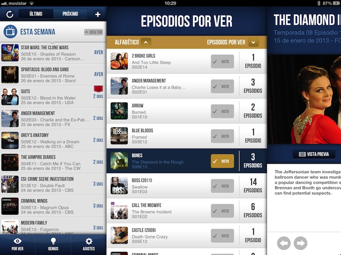 iTV Shows 2: la Mejor Manera de Seguir tus Series en el iPad