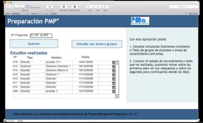 PMP: Aplicación de preguntas y exámenes