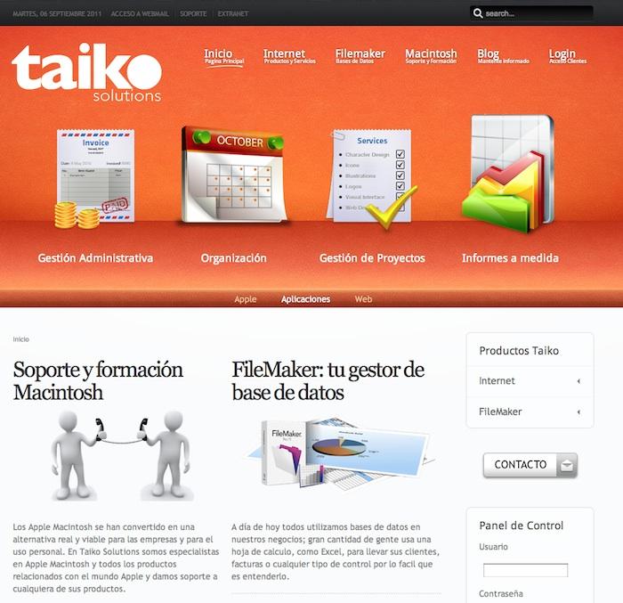 Nueva Web de Taiko Solutions